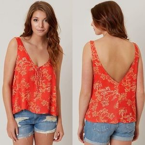 Free People The Rose Tie Front Floral Tank